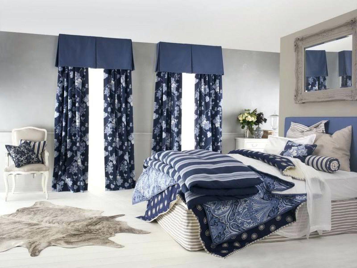 Шторы в интерьере спальни 6771