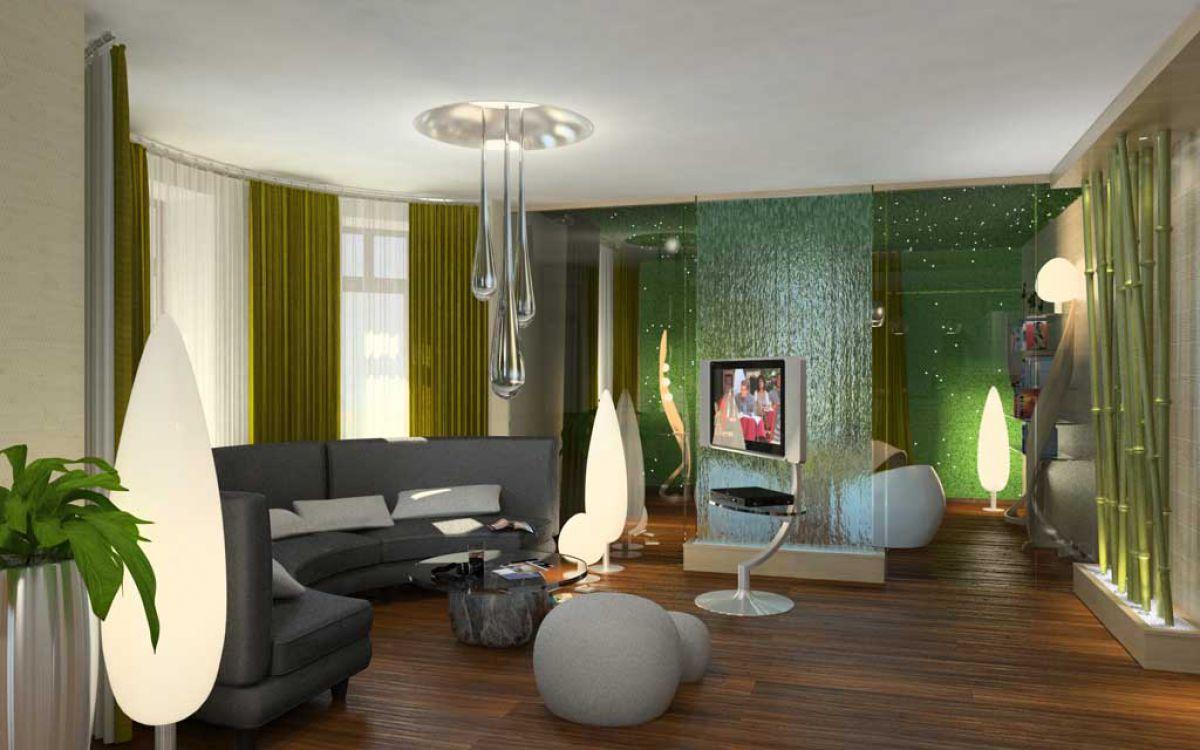 Дизайн гостиной 2019 6787