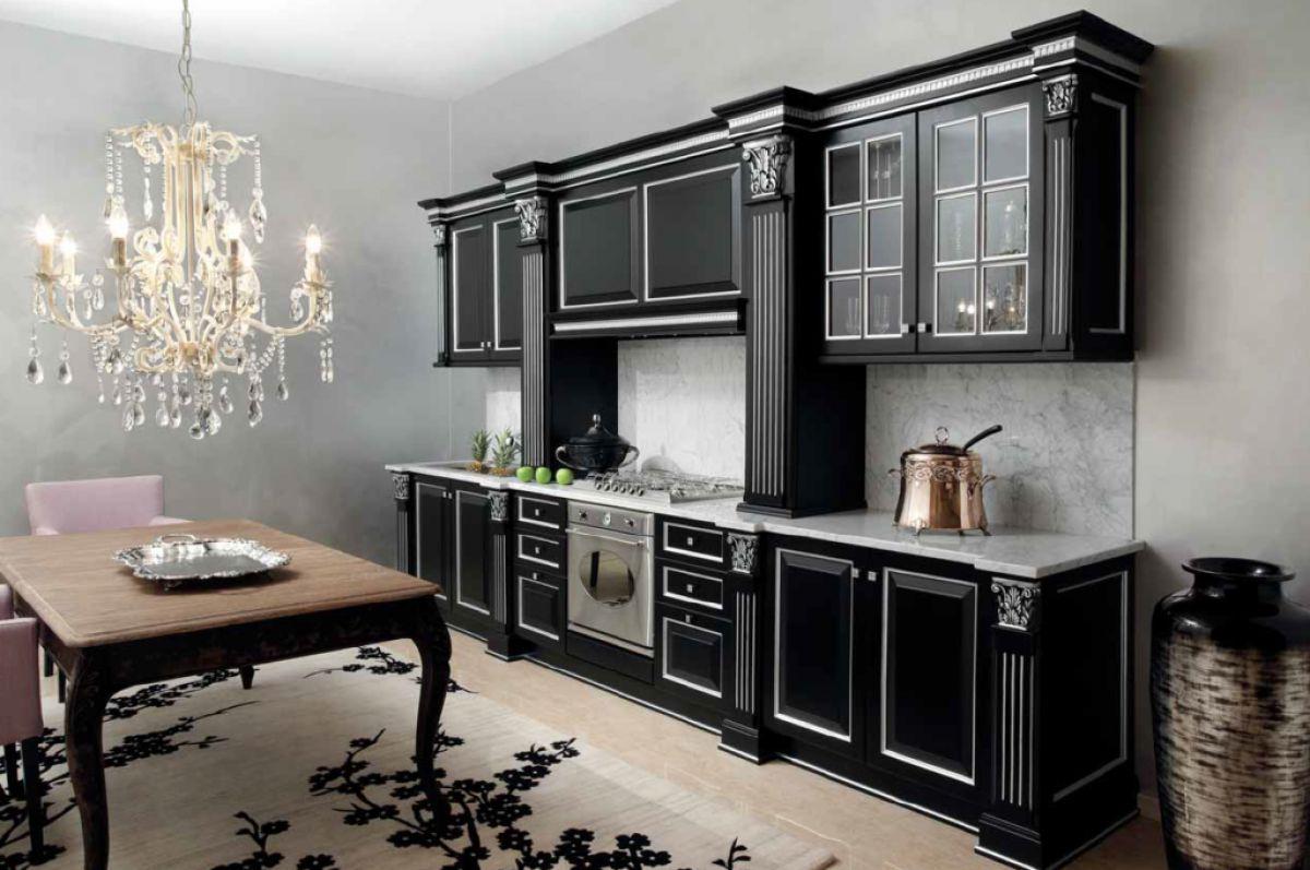 Черная кухня 6989