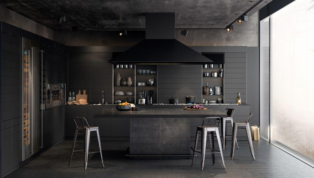 Черная кухня 6994