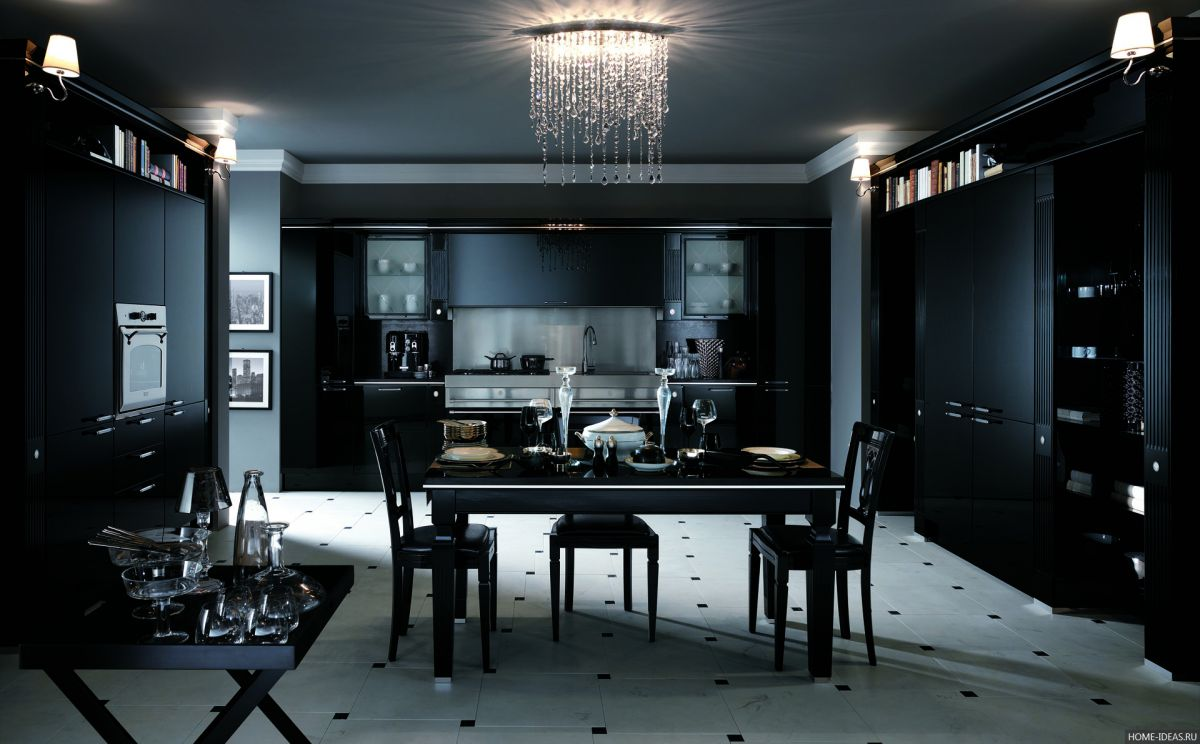 Черная кухня 6996