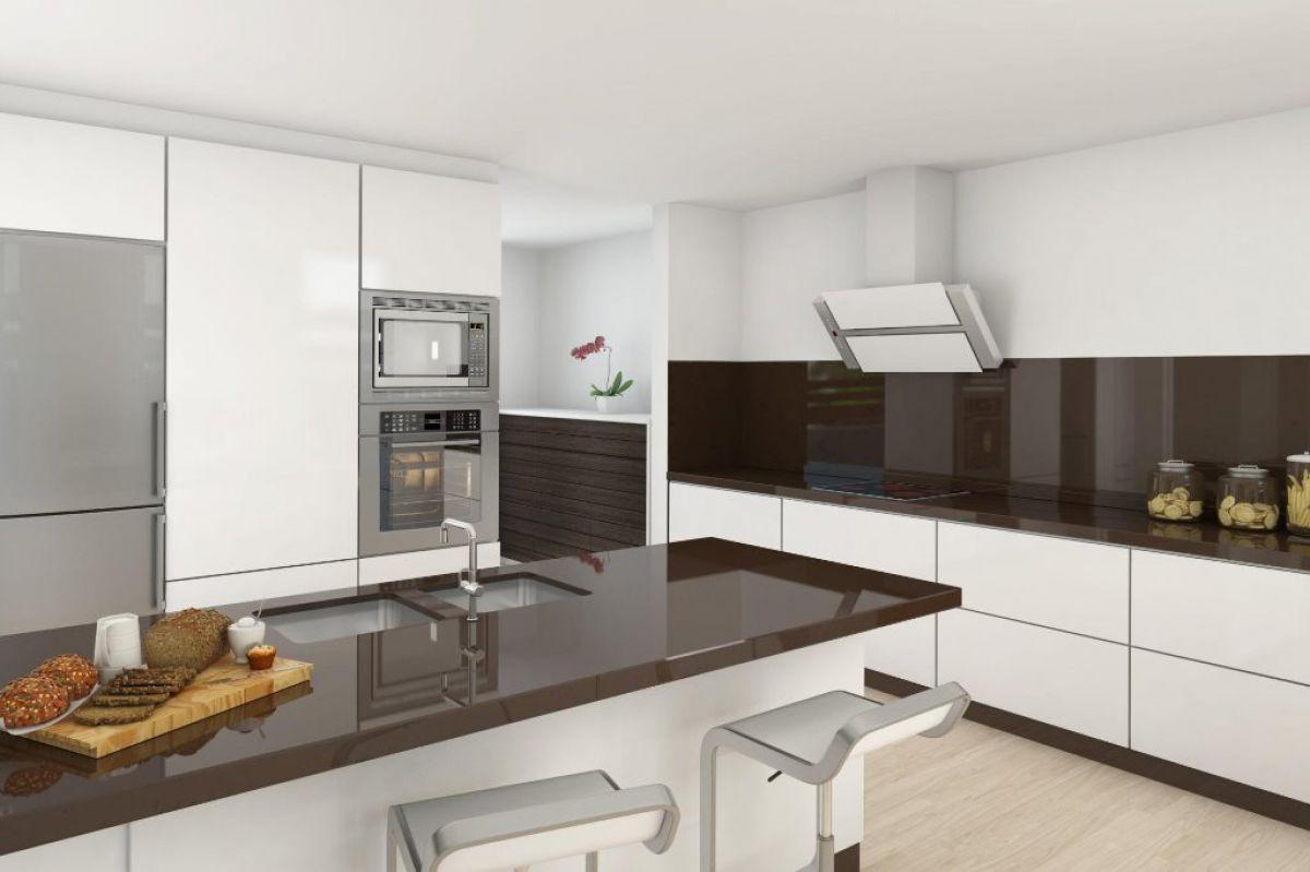 Черно-белая кухня 7040