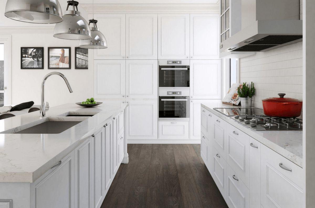 Черно-белая кухня 7043