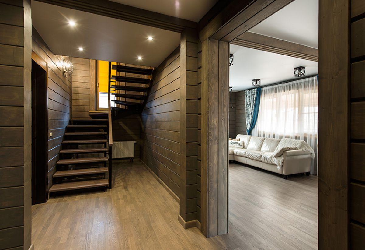 Внутренняя отделка дома из бруса 7253