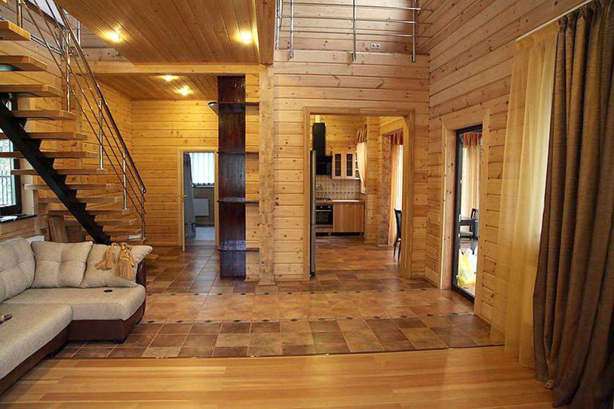 Внутренняя отделка дома из бруса 7255
