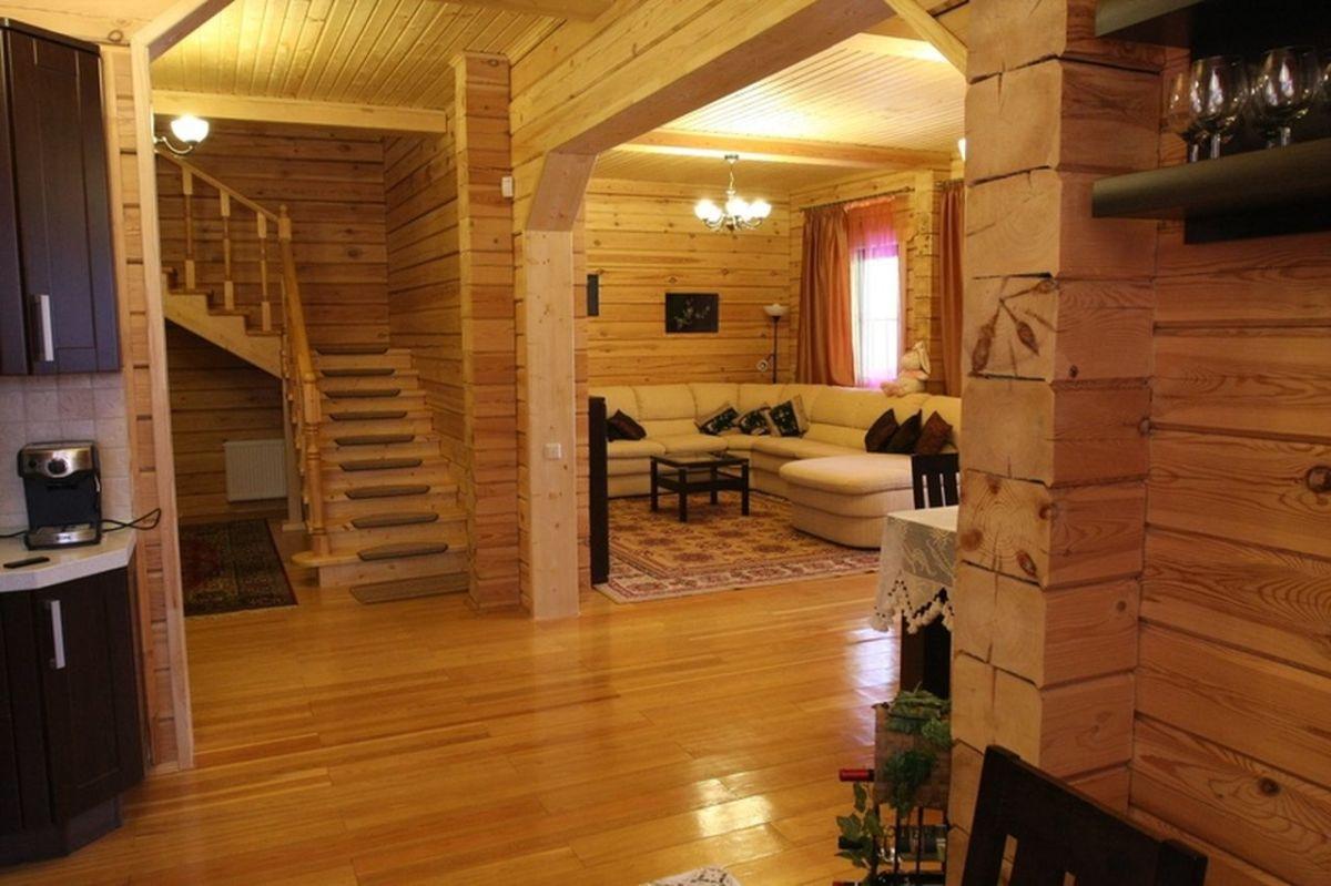 Внутренняя отделка дома из бруса 7260