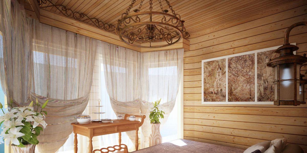 Внутренняя отделка деревянного дома 7268