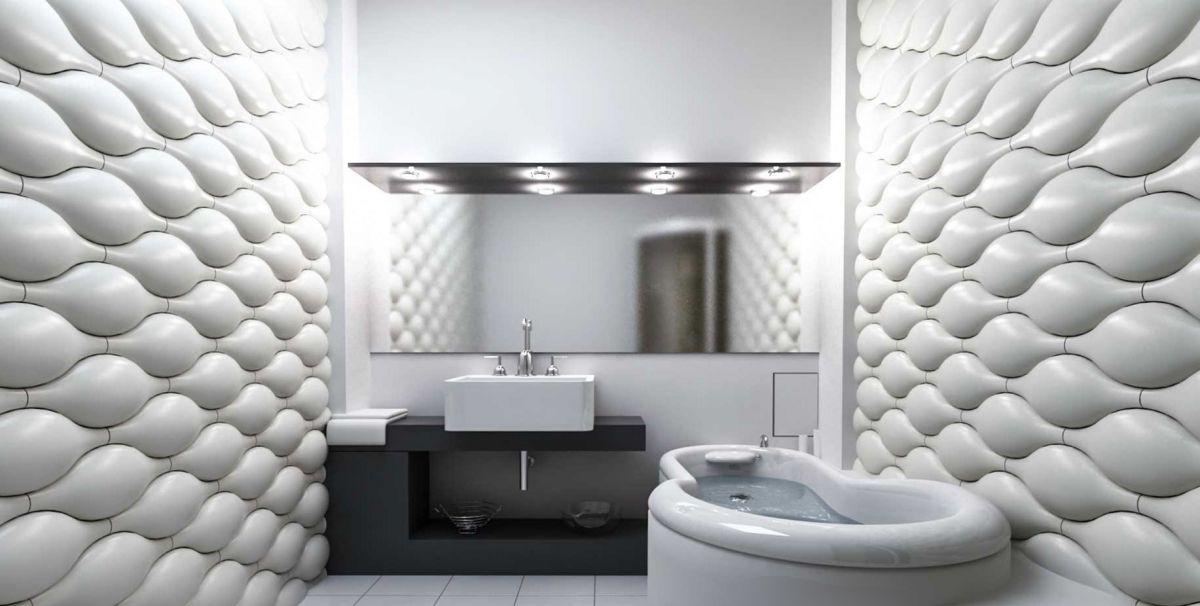 Отделка ванной пластиковыми панелями 7288