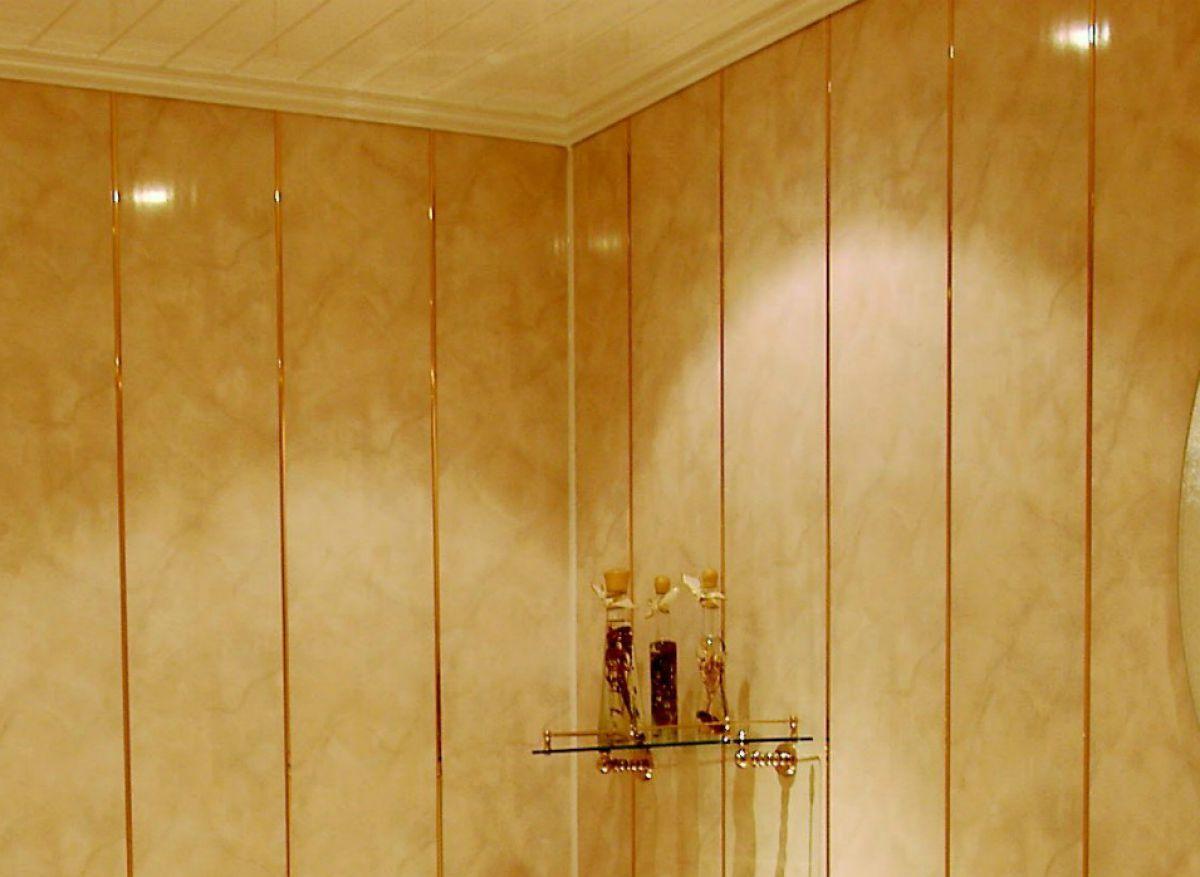 Отделка ванной пластиковыми панелями 7290