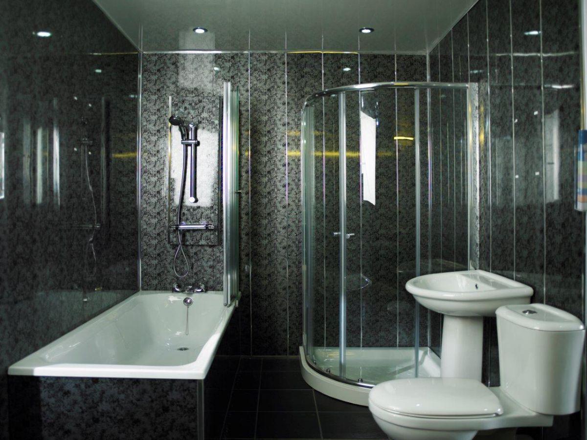 Отделка ванной пластиковыми панелями 7291