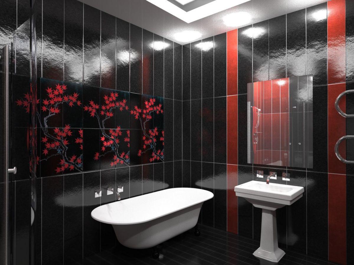 Отделка ванной пластиковыми панелями 7295