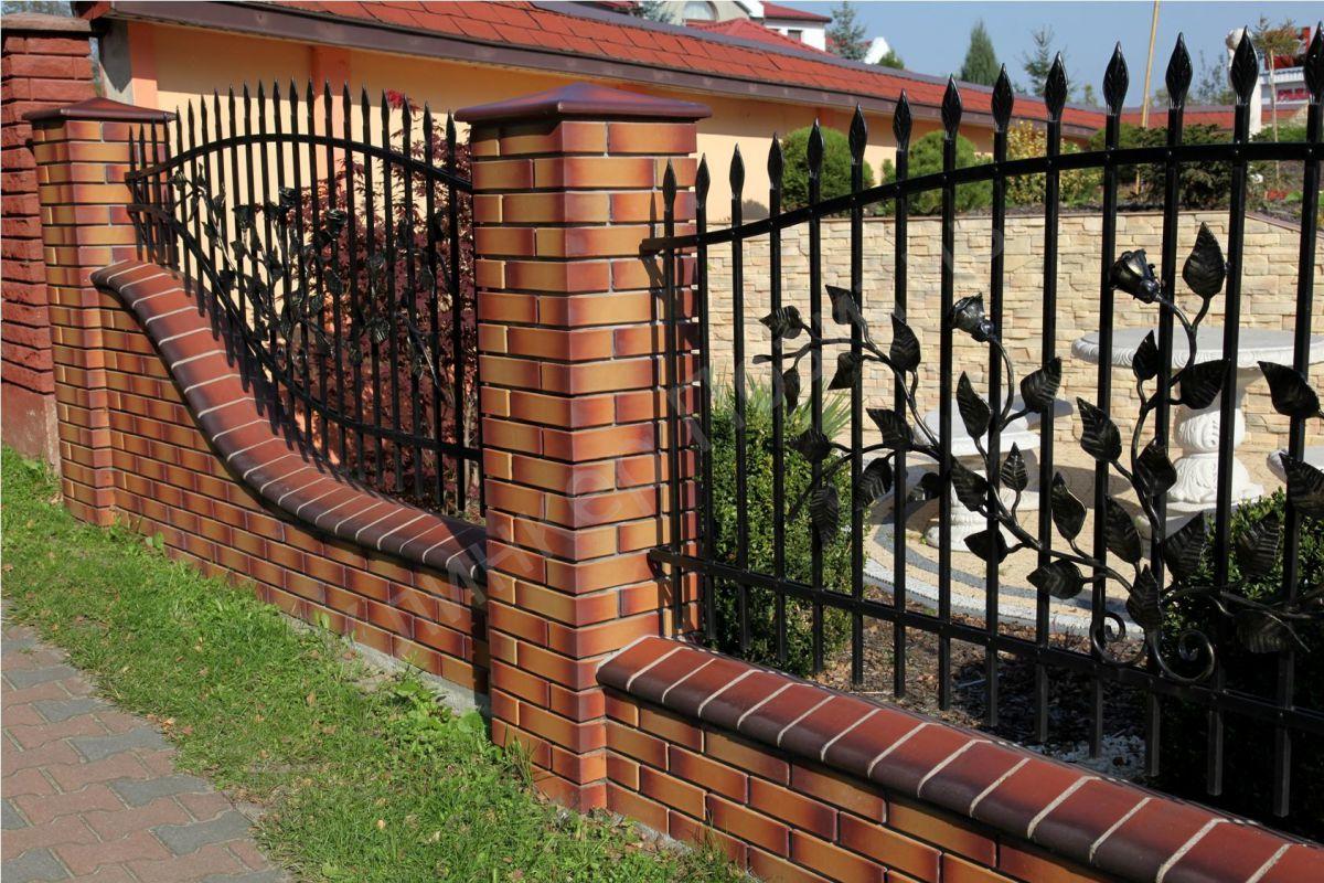 Кирпичный забор 7321