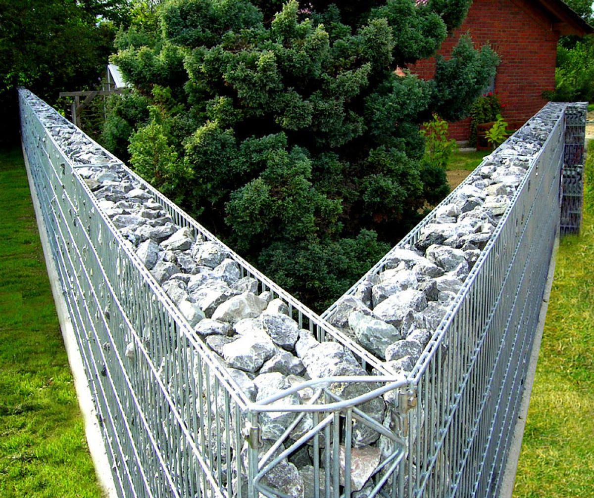 Забор из габионов 7335