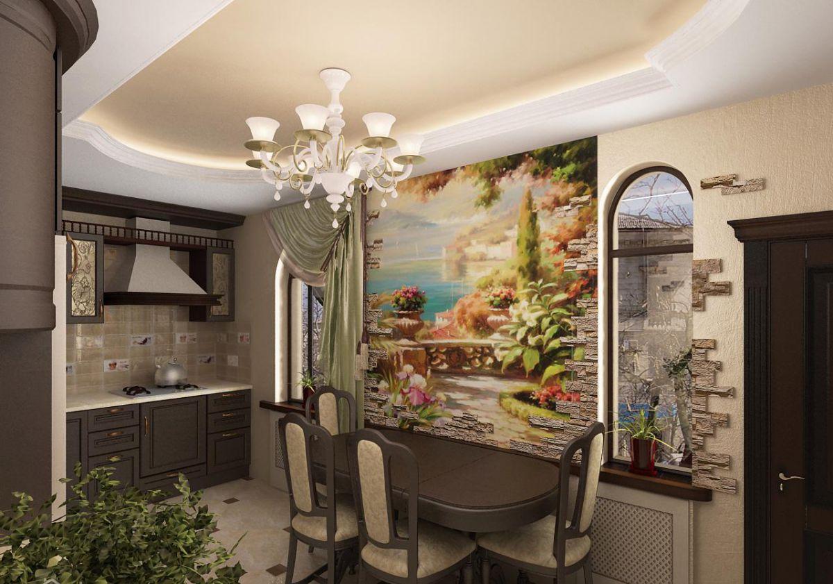 Фреска на кухне 7369