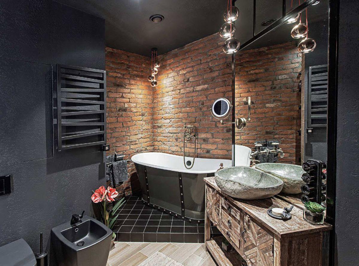 Ванная в стиле лофт 7590