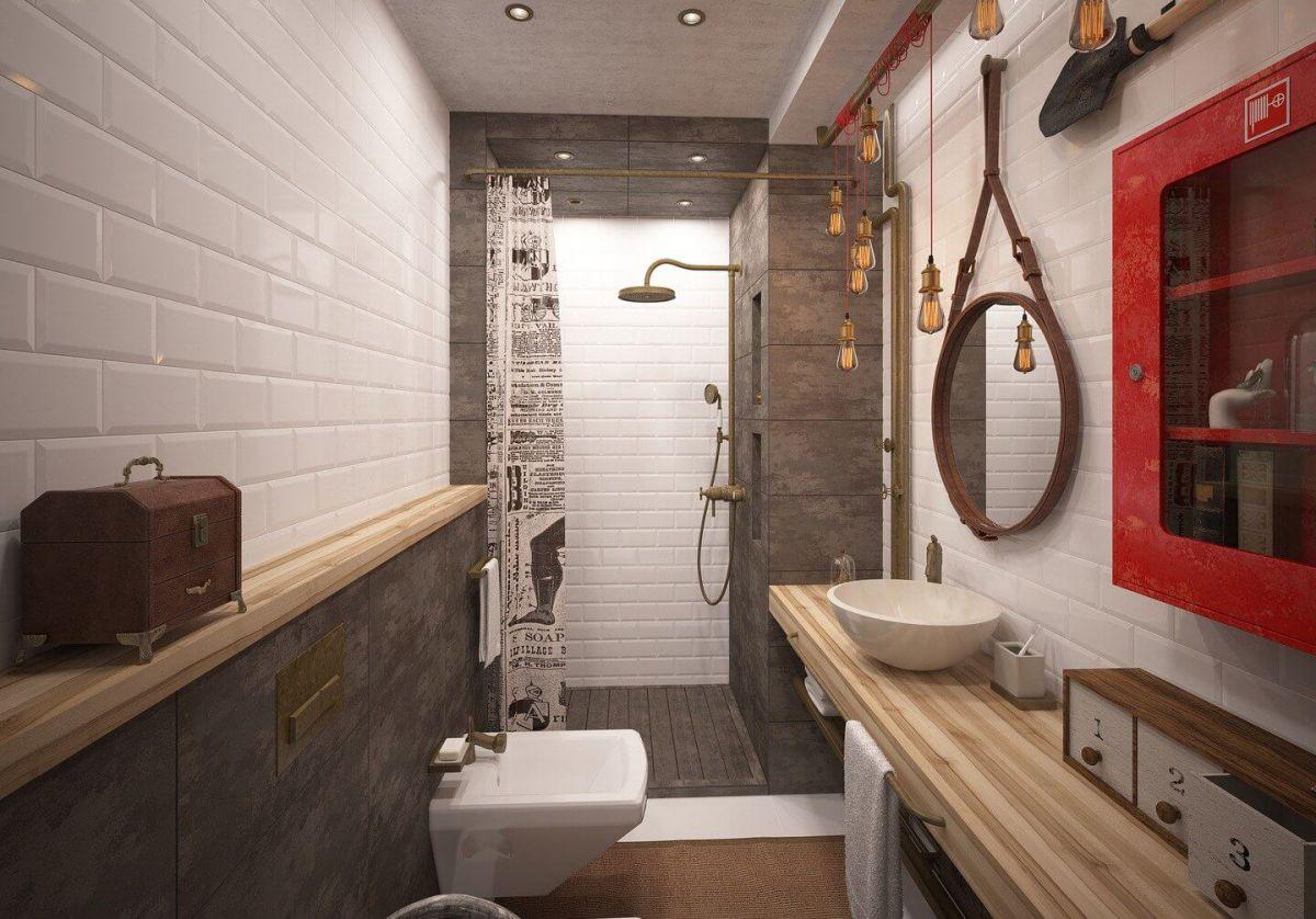 Ванная в стиле лофт 7591