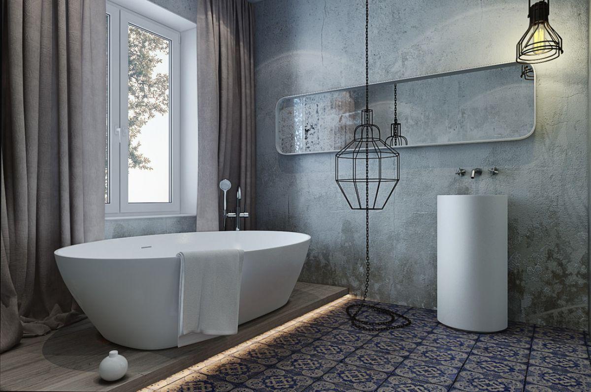 Ванная в стиле лофт 7596