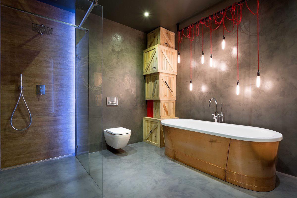 Ванная в стиле лофт 7597