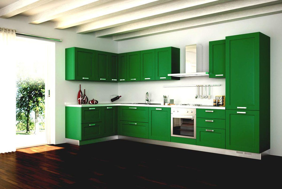 Зеленая кухня 7774