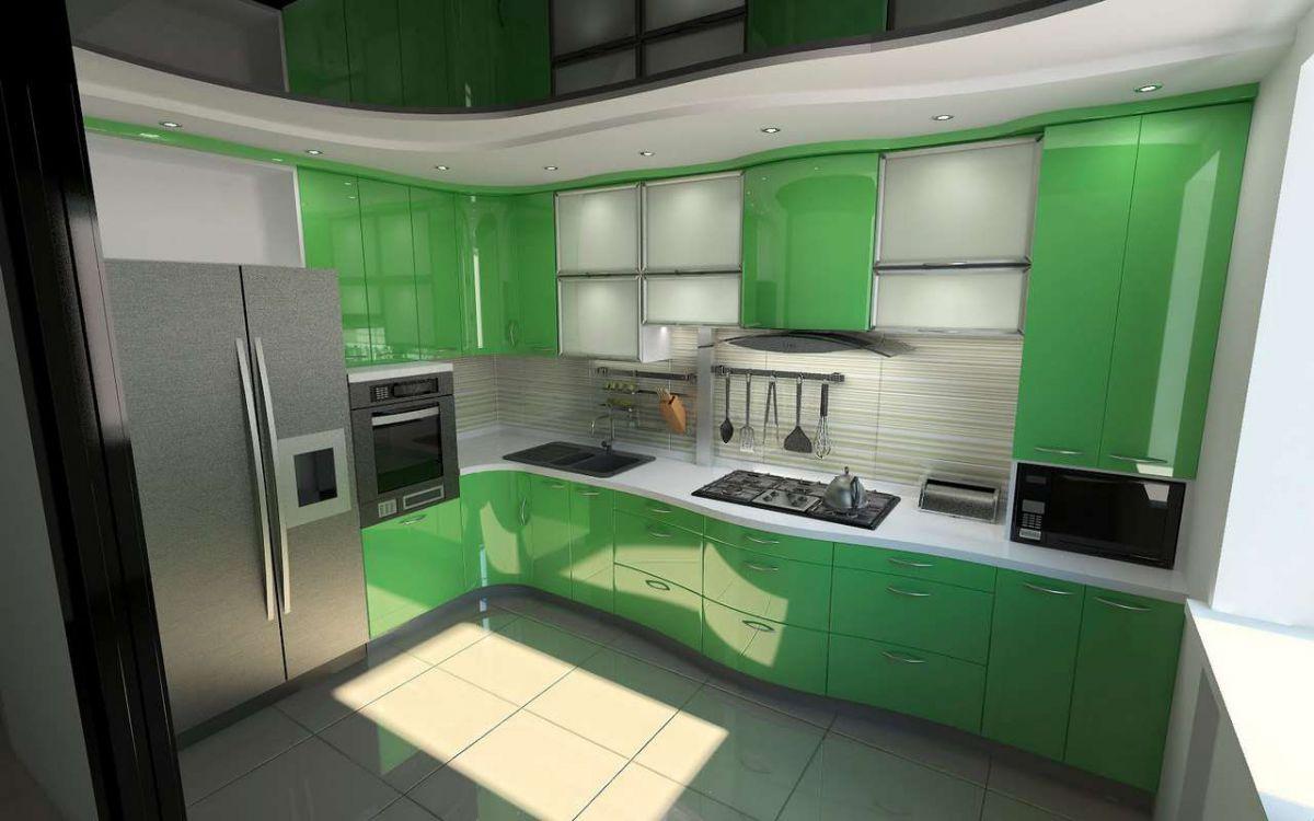 Зеленая кухня 7776
