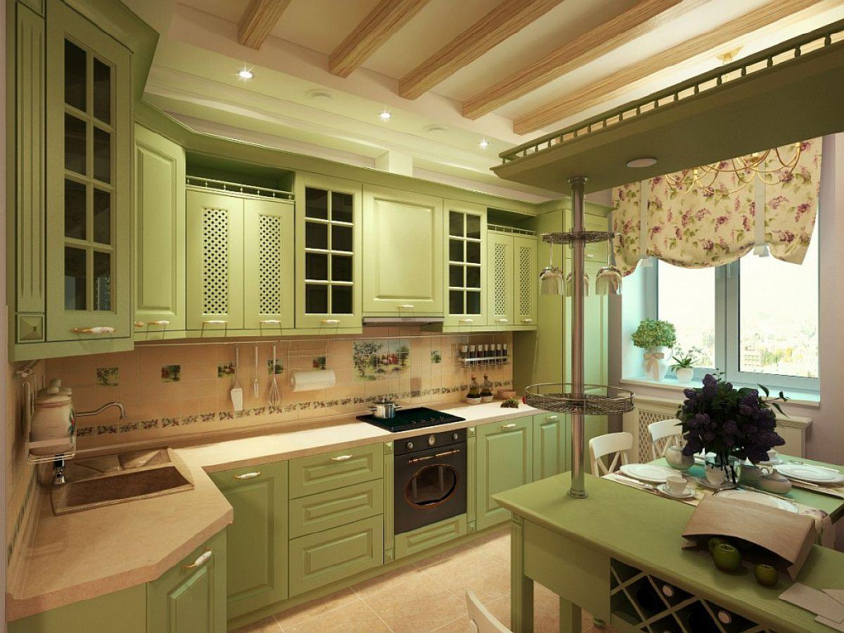 Зеленая кухня 7780