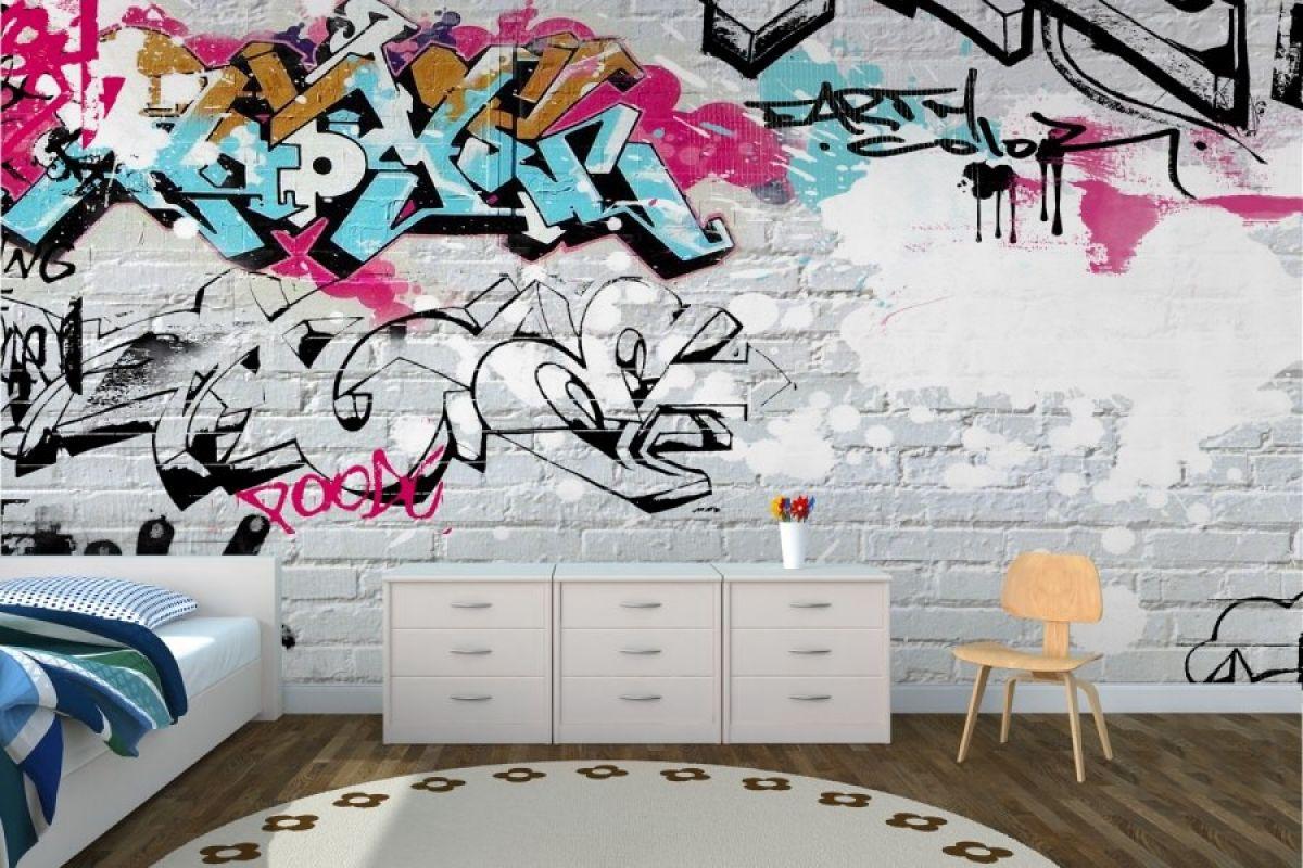 фотообои рисунок на кирпичной стене потолок помощью
