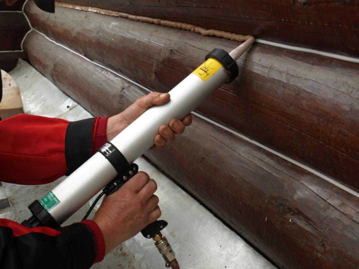 Герметизация деревянных швов 10302