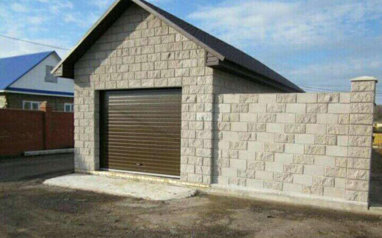 Стена гаража из керамзитобетона банка строительная для раствора