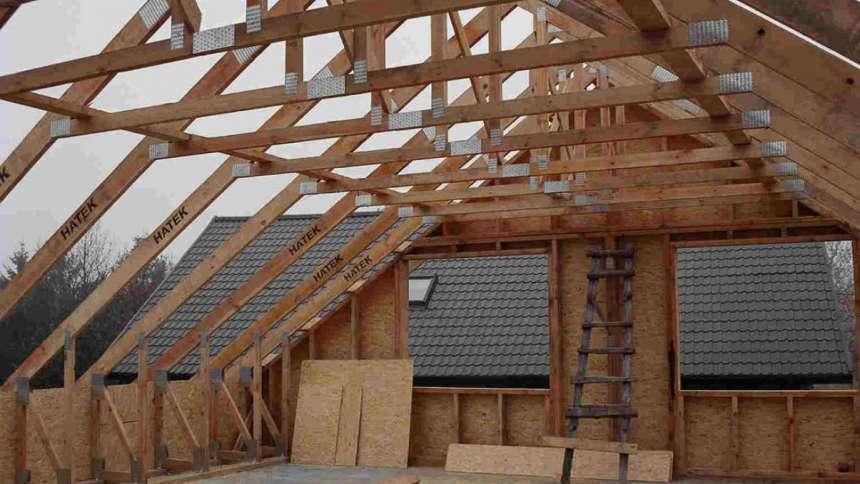 Крыша  каркасного дома своими руками, устройство каркаса крыши, чердачное перекрытие дома из каркаса — Стройфора
