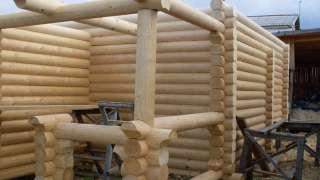Обработка бревен для дома из сруба