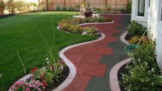 Резиновая плитка – для садовой тропинки, гаража и спортивной площадки
