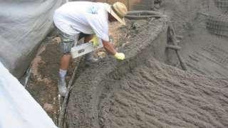 Торкрет бетон - своими руками.  Фундамент, арки, своды, реконструкция