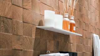 Облицовка стен…  деревянной плиткой