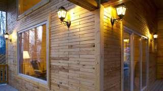 Деревянный кирпич. Теплый дом, нестандартная архитектура