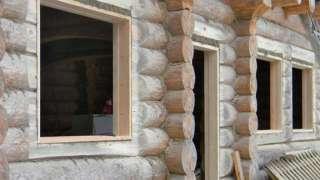 Окосячка окна деревянного дома