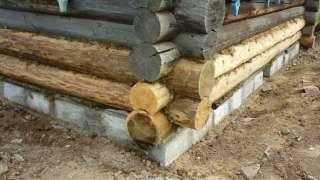 Замена нижних венцов деревянного дома