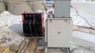 Бетонирование на частном участке зимой. Прогрев бетона – основные способы. Индукционный прогрев