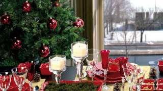 Интерьер с бордовым цветом - праздничный, торжественный, новогодний
