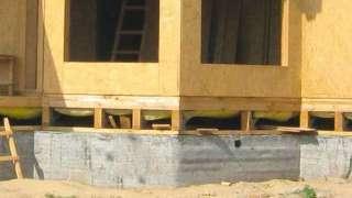Ленточный фундамент каркасного дома