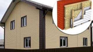 Обшивка сайдингом и утепление дома