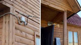 Ввод электричества в дом проводом СИП