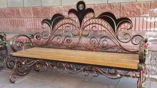 Скамейка из труб