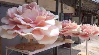 Большие цветы из изолона