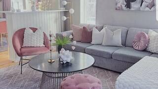 Розовые цвета в интерьере